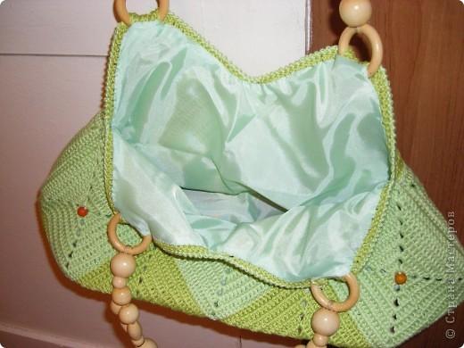 Такая сумочка была задумана уже давно. Квадраты были связаны еще в конце прошлого лета. Всего - 17 штук фото 4
