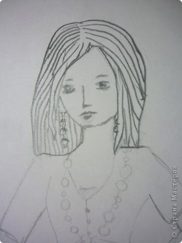 Вот такую девушку мы будем рисовать фото 7