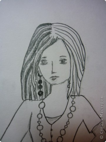 Вот такую девушку мы будем рисовать фото 8