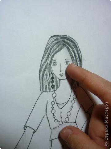 Вот такую девушку мы будем рисовать фото 9