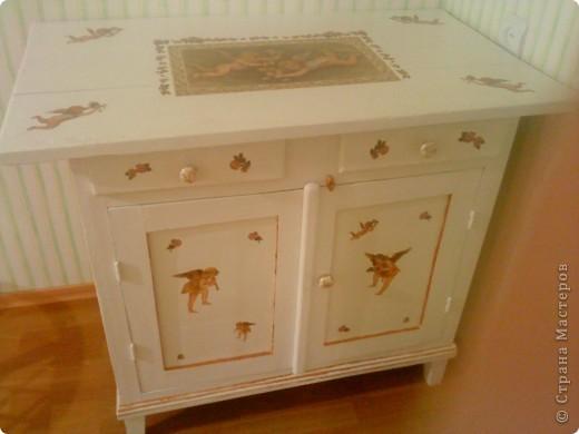 Преображение старого стола фото 1