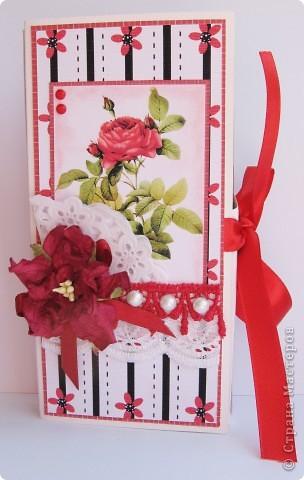 Погналась за двумя зайцами. Догнала и одного, и второго )))) Хотелось сделать и открытку, и упаковку для шоколада. Вот мой вариант. фото 1