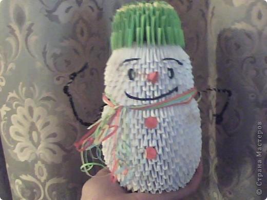 Снеговик из модулей фото 1
