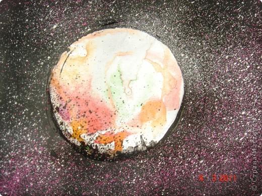 """Вот так мы с помощью нашего сайта раскрыли тему """"Космос""""... Это панно (формат А2) я рисовала в качестве образца для детей, используя мастер класс мастерицы Наталия-54. Огромное ей спасибо за идею! А вот, что получилось у детей...  фото 5"""
