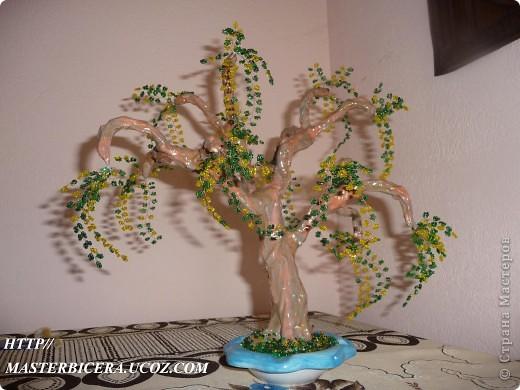Дерево любви.Деревья из бисера.Мои работы фото 9