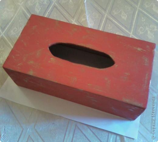 Салфетница (декорирование) фото 2