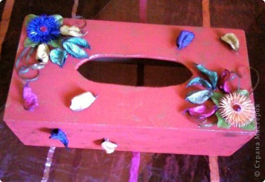 Салфетница (декорирование) фото 3