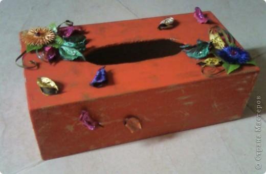 Салфетница (декорирование) фото 4