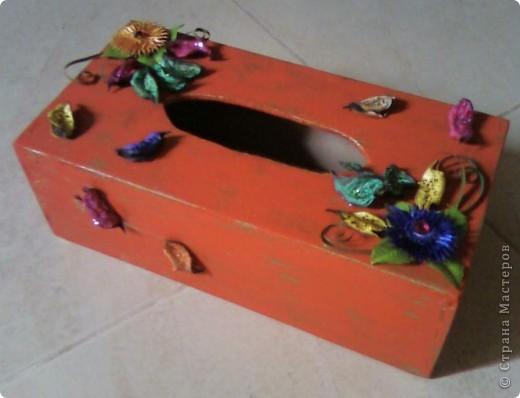 Салфетница (декорирование) фото 1
