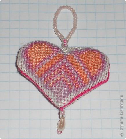 Сердечко розовое. Ширина сердечка 4,5 см.  фото 1