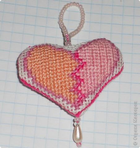 Сердечко розовое. Ширина сердечка 4,5 см.  фото 2
