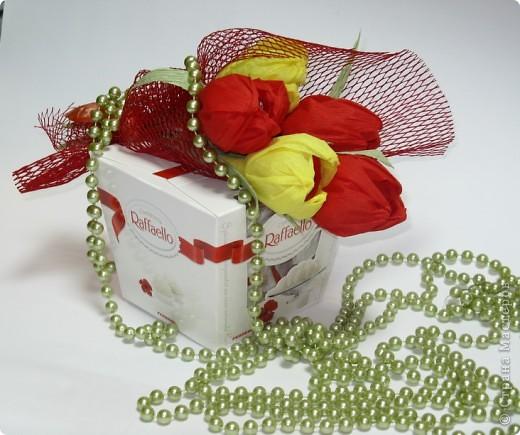 Сладкие букетики в подарок  к Празднику. фото 9