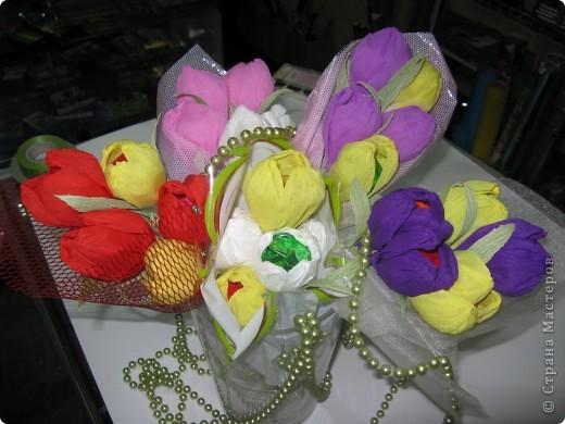Сладкие букетики в подарок  к Празднику. фото 3