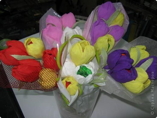 Сладкие букетики в подарок  к Празднику. фото 4