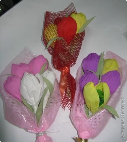 Сладкие букетики в подарок  к Празднику. фото 5