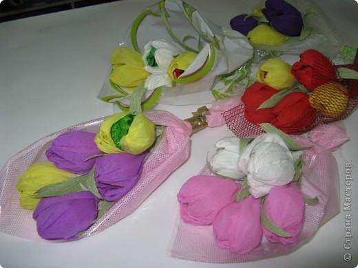 Сладкие букетики в подарок  к Празднику. фото 6