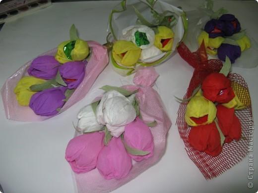 Сладкие букетики в подарок  к Празднику. фото 7