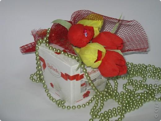 Сладкие букетики в подарок  к Празднику. фото 8