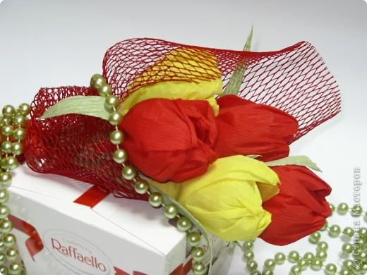 Сладкие букетики в подарок  к Празднику. фото 1