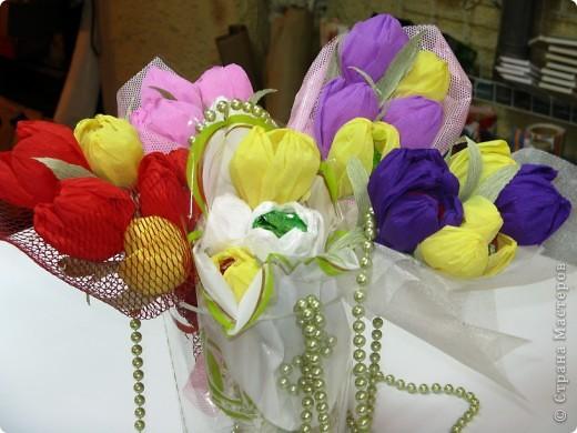 Сладкие букетики в подарок  к Празднику. фото 2