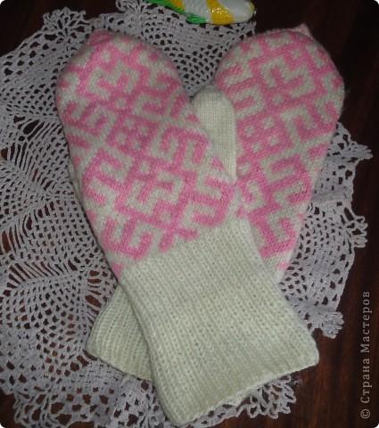 Рукавички и носочки с жаккардом фото 2