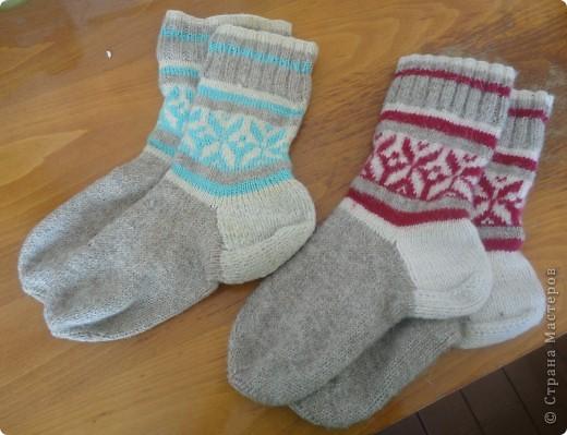 Рукавички и носочки с жаккардом фото 1
