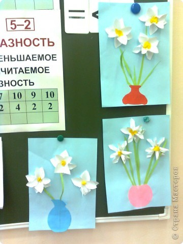Поделка на 8 марта в 1 классе