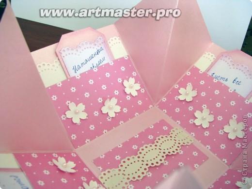 коробочка с поздравлениями и местом для денежки для десятилетней именинницы. фото 4
