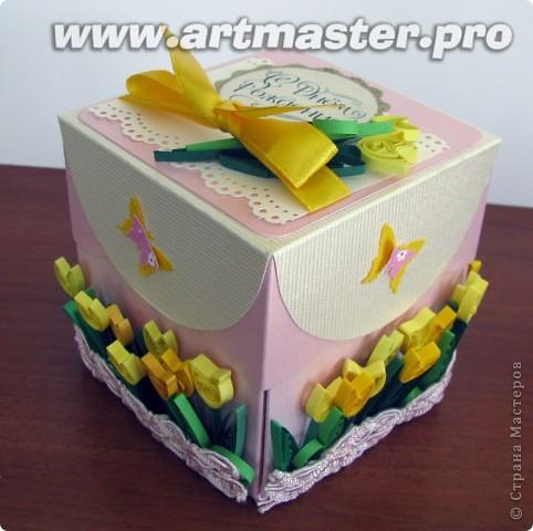 коробочка с поздравлениями и местом для денежки для десятилетней именинницы. фото 2
