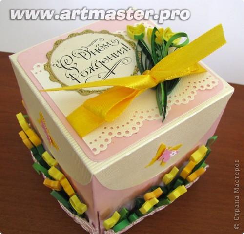 коробочка с поздравлениями и местом для денежки для десятилетней именинницы. фото 1