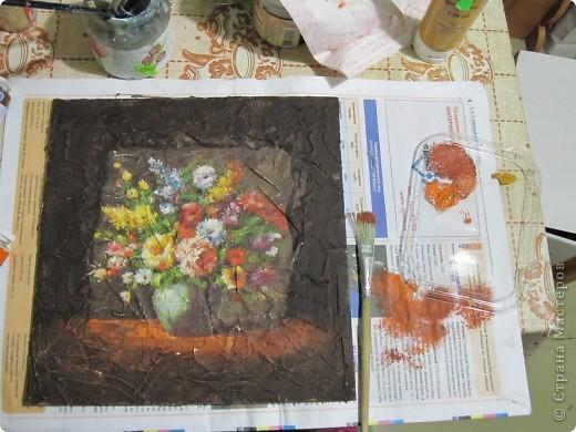 Всем привет! Хочу поделиться, как сделать имитацию фрески. Это мой первый мастер класс, поэтому не судите строго. Может кому-то это и пригодится)))) фото 6