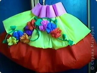 Платье из гофрированной бумаги своими руками для девочки