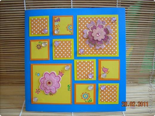 цветной картон,цветная декоративная бумага,цветочки,полубусины. фото 1
