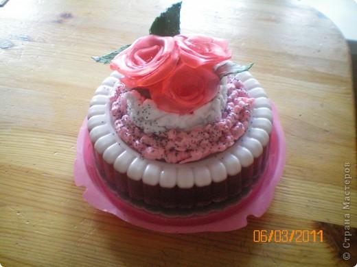 мыльный торт с розами фото 1