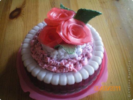 мыльный торт с розами фото 2