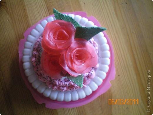 мыльный торт с розами фото 3
