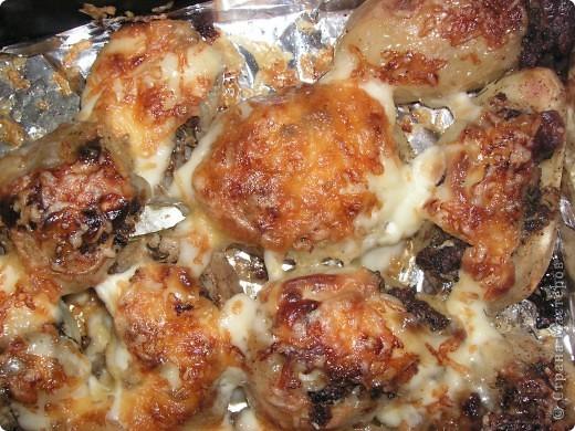запеченный картофель с мясом и сыром фото 1
