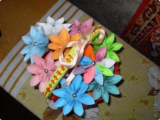 Корзинка с цветами на 8 марта фото 1