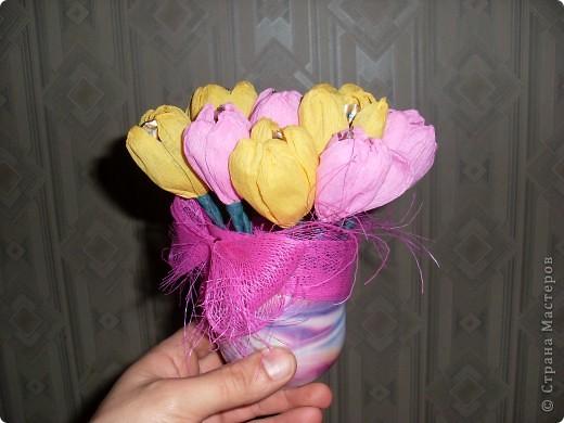 Букетики из конфет фото 2
