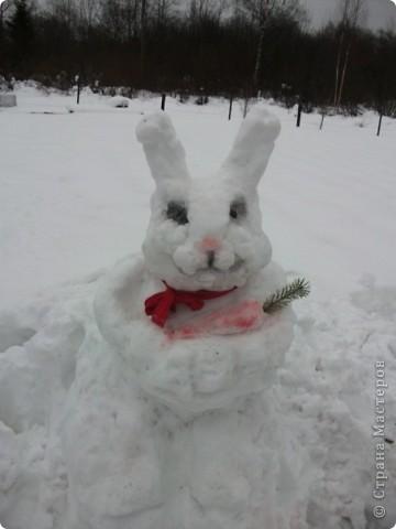 Этого зайца я слепила перед новым годом. фото 1