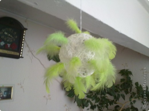 вот такой шарик сначало планировался страусенок но шейка сломалась(((((( фото 2
