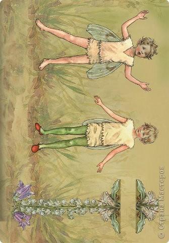 Бумажные куколки феи фото 6