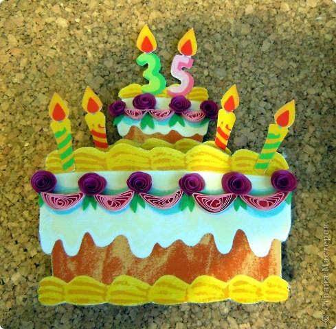Вот такая открытка получилась на ДР подружки, которая делает вкусненькие тортики и пироженки. фото 3