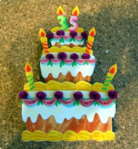 Вот такая открытка получилась на ДР подружки, которая делает вкусненькие тортики и пироженки. фото 4