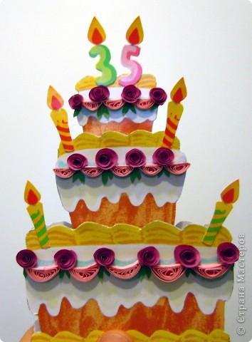 Вот такая открытка получилась на ДР подружки, которая делает вкусненькие тортики и пироженки. фото 5