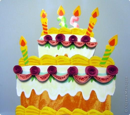 Вот такая открытка получилась на ДР подружки, которая делает вкусненькие тортики и пироженки. фото 1