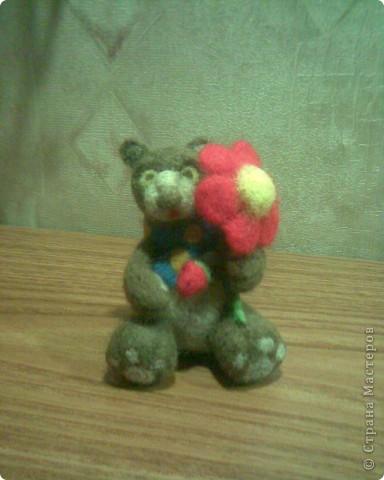 Медвежонок Блинчик)) Самый первый, немножко комом, отсюда имя:) фото 1