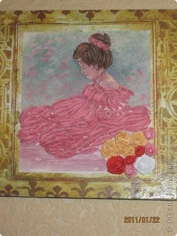 "Квиллинг картина на стену ""Балерина"" фото 1"