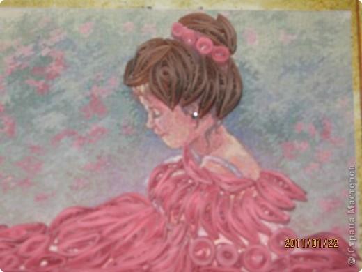"Квиллинг картина на стену ""Балерина"" фото 2"
