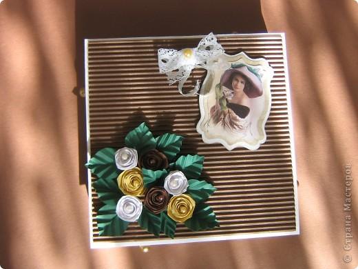 Под свою мелкую бижутерию сделала коробочку, так сказать вариант мини-комодика.  фото 1